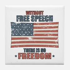Free Speech Tile Coaster