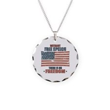 Free Speech Necklace Circle Charm