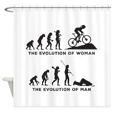 Mountain Biking Shower Curtain