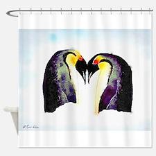 Penguin Love Shower Curtain