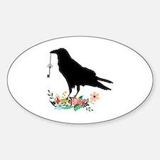 Cute Crow Sticker (Oval)