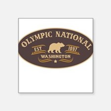 "Cute National park olympic Square Sticker 3"" x 3"""