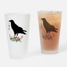 Funny Crow Drinking Glass