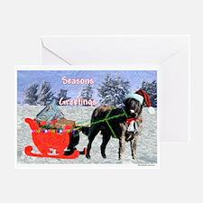 Mastiff Sleigh Greeting Card