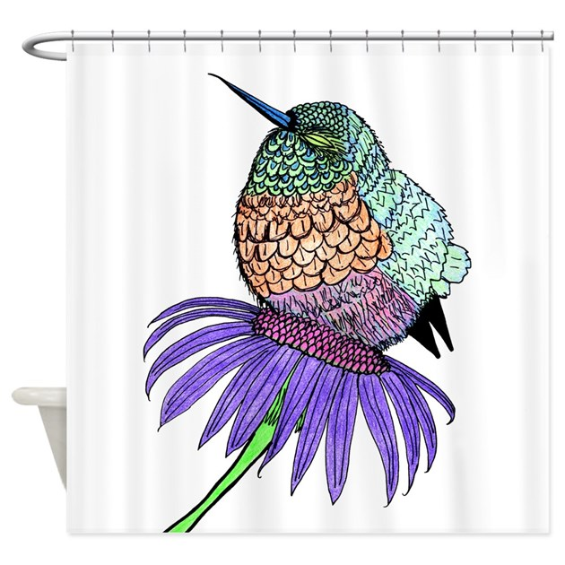 Hummingbird Kitchen Curtains: Baby Hummingbird Shower Curtain By Bcgphotography