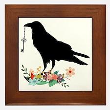 Unique Crow Framed Tile
