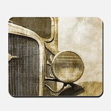 rusty vintage farm truck Mousepad