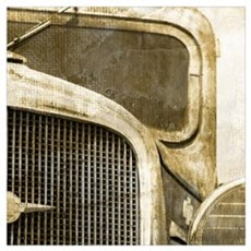 rusty vintage farm truck Poster