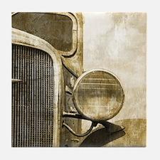 rusty vintage farm truck Tile Coaster