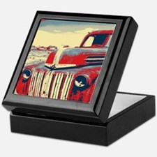 cool retro old truck  Keepsake Box