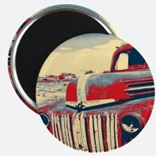 cool retro old truck  Magnet