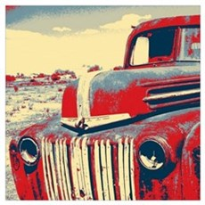 cool retro old truck  Poster