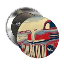 """cool retro old truck  2.25"""" Button"""