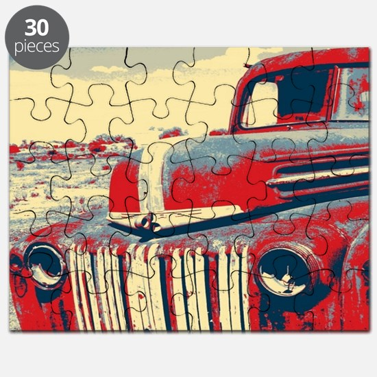 cool retro old truck  Puzzle