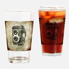 photographer retro camera Drinking Glass