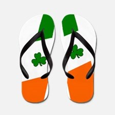 Irish flag beer bottles Flip Flops