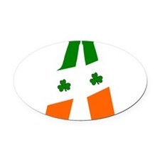 Irish flag beer bottles Oval Car Magnet