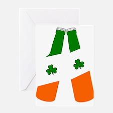 Irish flag beer bottles Greeting Cards