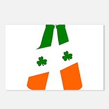 Irish flag beer bottles Postcards (Package of 8)