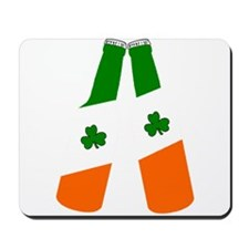 Irish flag beer bottles Mousepad