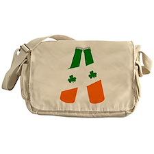 Irish flag beer bottles Messenger Bag