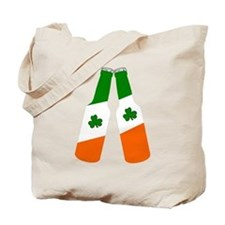 Irish flag beer bottles Tote Bag