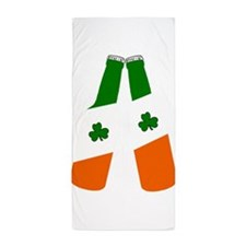 Irish flag beer bottles Beach Towel