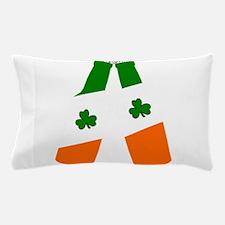 Irish flag beer bottles Pillow Case