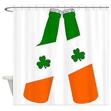 Irish flag beer bottles Shower Curtain
