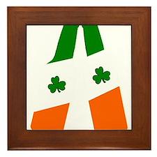 Irish flag beer bottles Framed Tile