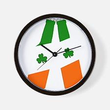 Irish flag beer bottles Wall Clock
