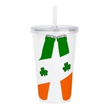 Irish flag beer bottles Acrylic Double-wall Tumble