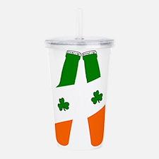 Irish flag beer bottles Acrylic Double-wall Tumble