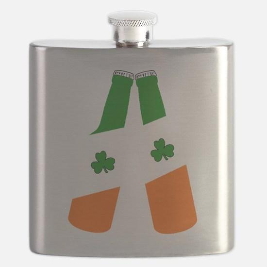 Irish flag beer bottles Flask