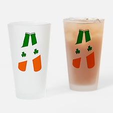Irish flag beer bottles Drinking Glass
