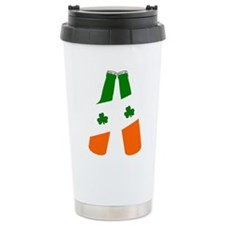 Irish flag beer bottles Travel Mug