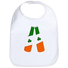 Irish flag beer bottles Bib