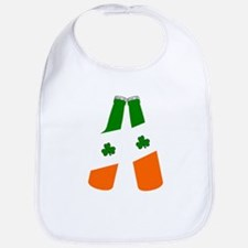 Irish flag beer bottles Bib