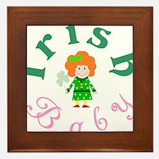 irish_baby_girl_wht Framed Tile