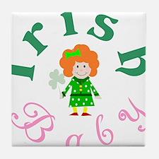 irish_baby_girl_wht Tile Coaster