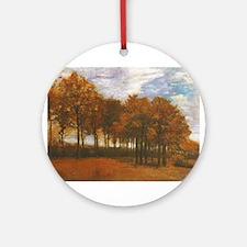 Autumn Lanscape by Van Gogh Ornament (Round)