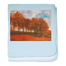 Autumn Lanscape by Van Gogh baby blanket