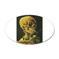 Van Gogh skull Wall Decal
