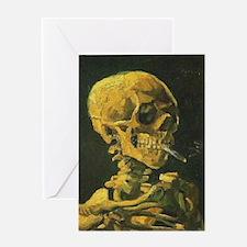Van Gogh skull Greeting Cards