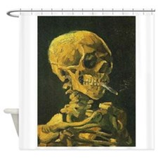 Van Gogh skull Shower Curtain