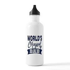 World's Okayest Dad Water Bottle