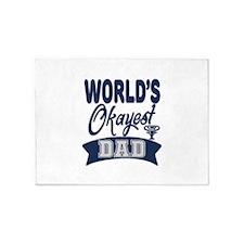 World's Okayest Dad 5'x7'Area Rug