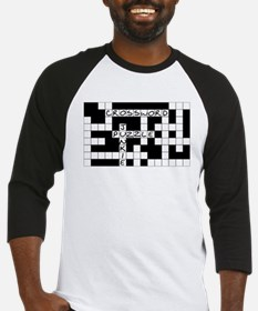Crossword Puzzle Junkie Baseball Jersey