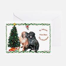 Mistletoe Kiss Greeting Card