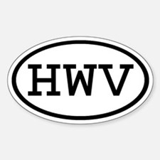 HWV Oval Oval Decal